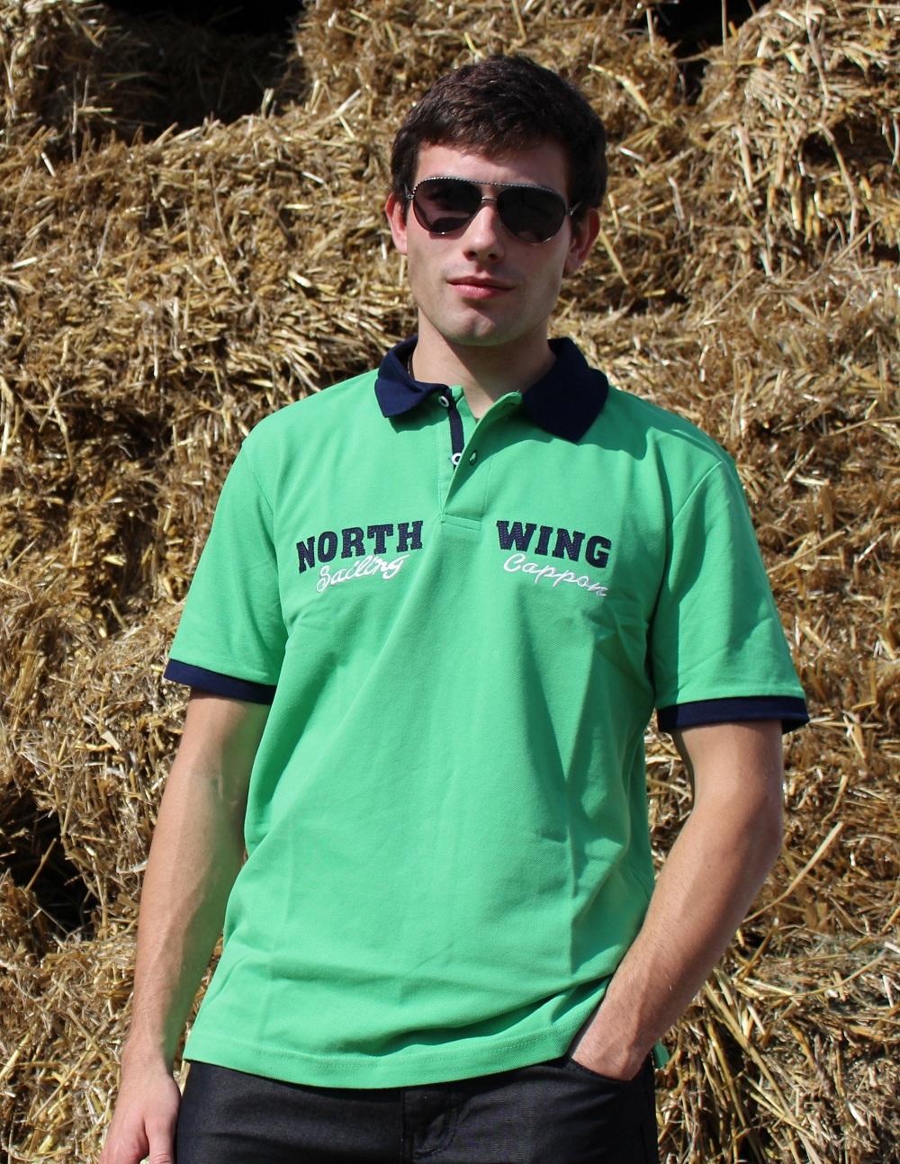 Pánské triko s límečkem - zelené