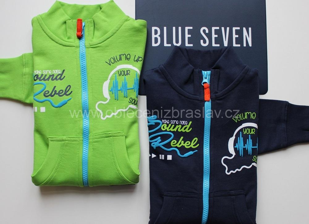 7999c07b3ce Chlapecká mikina - Blue seven SLEVA vel.110