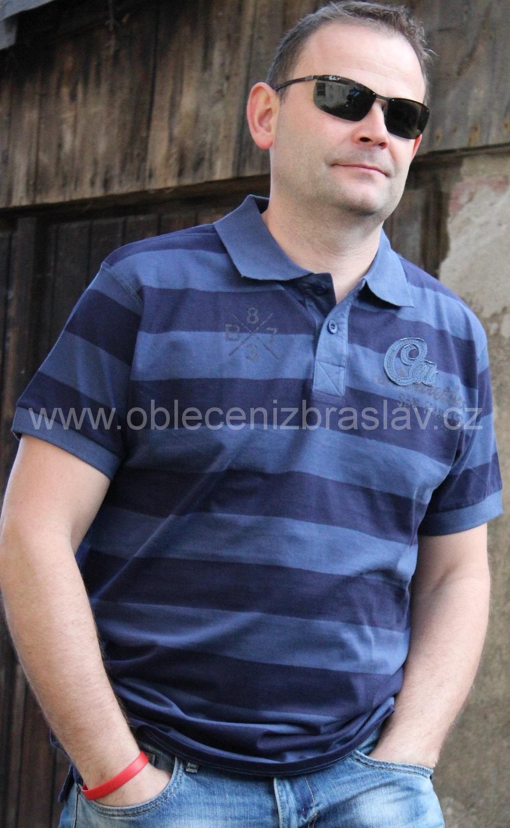Pánské tričko s límečkem vel.M - Blue seven