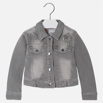 Džínová zateplená bunda vel.110