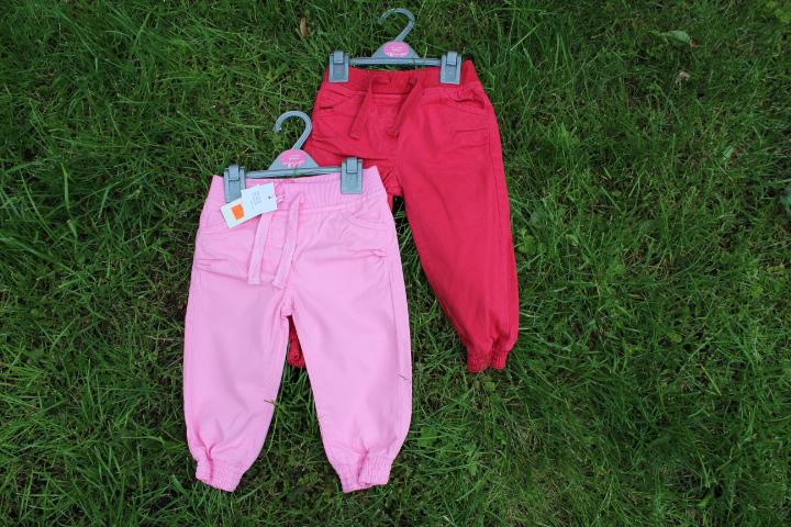 Dívčí plátěné kalhoty Minoti