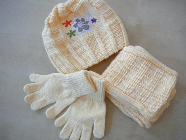 Dívčí set - čepice + šála + rukavice Amaltea-SLEVA